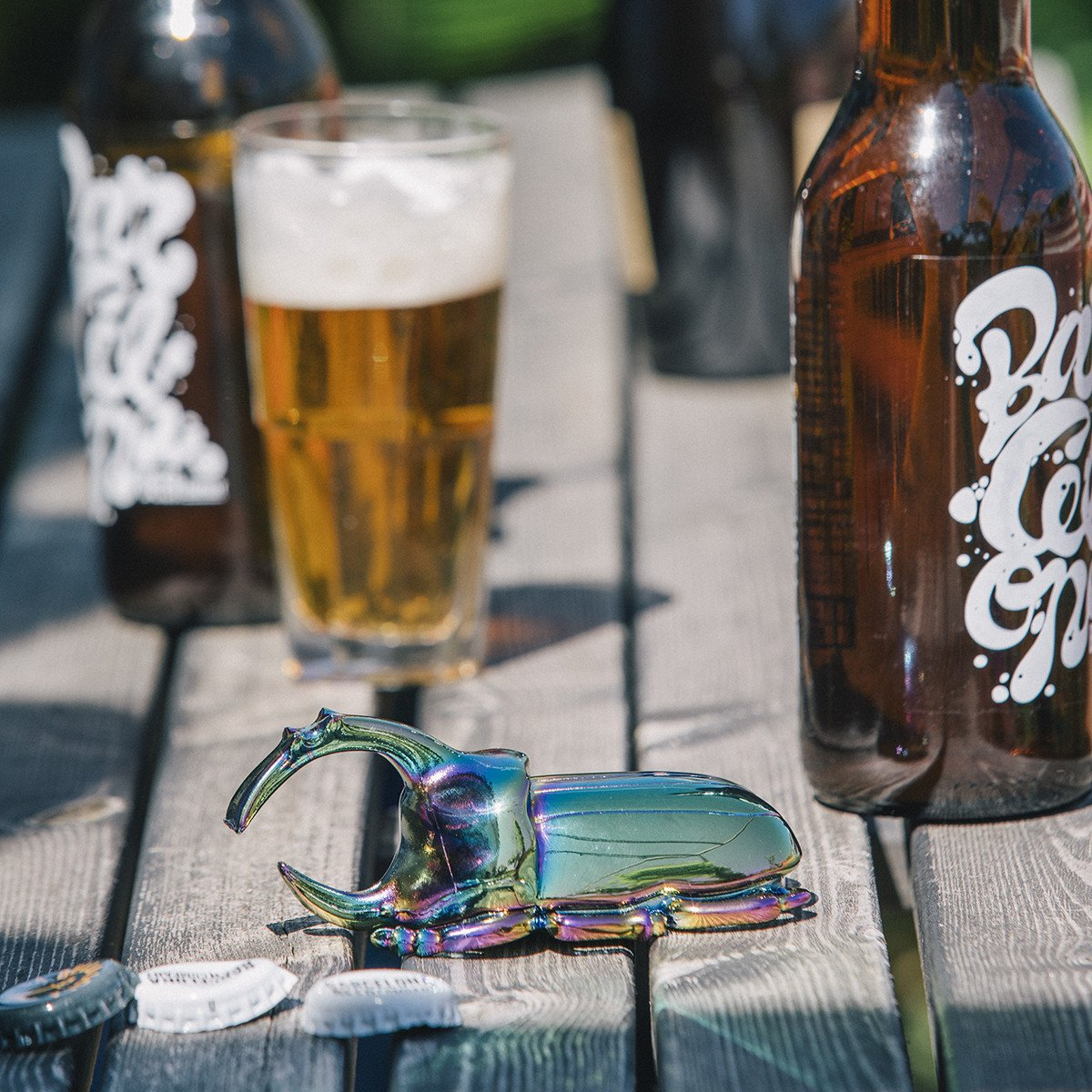 Rhinoceros Beetle Solid Metal Bottle Opener | DOIY