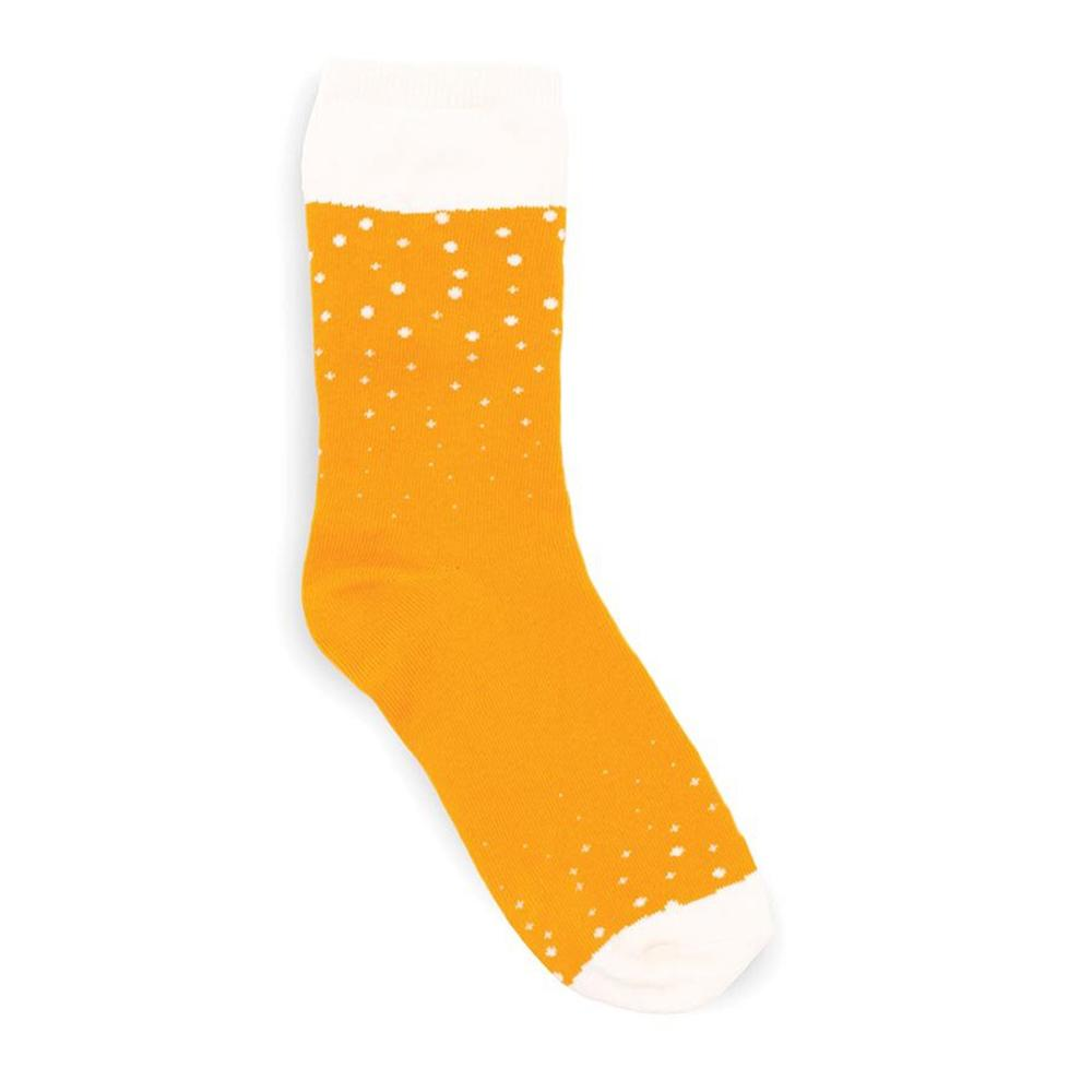 Mens Lager Beer Socks-in-a-Can - - Luckies of London - Yellow Octopus