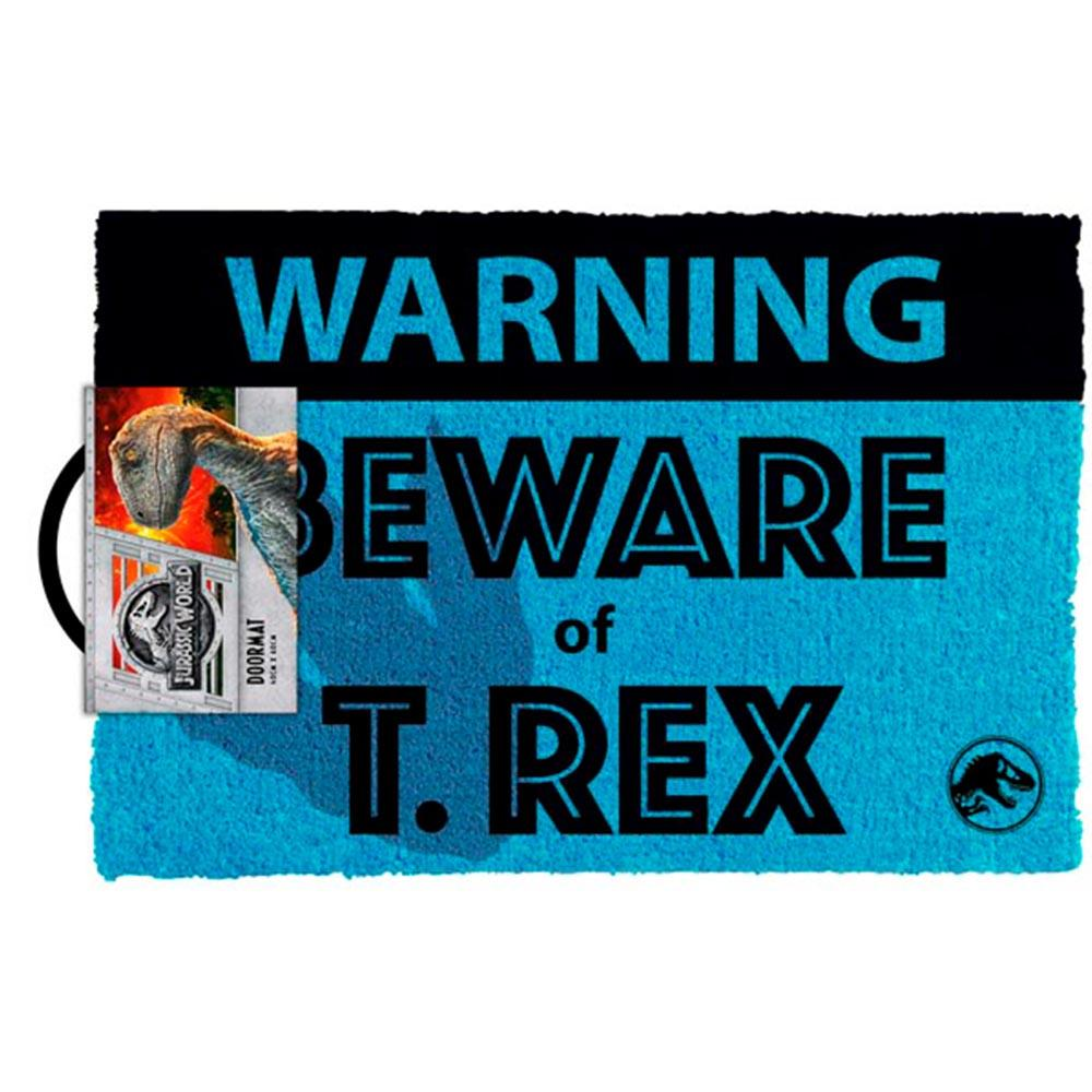 Jurassic World Beware T-Rex 3D Footprint Door Mat