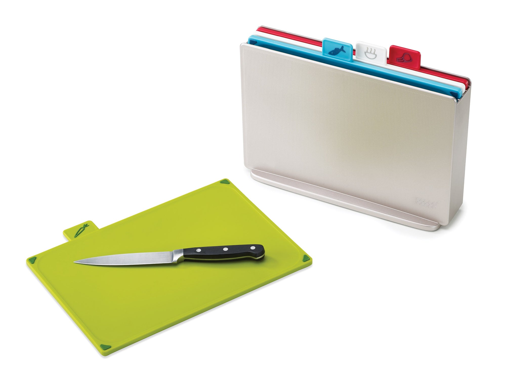 Joseph Joseph Index Chopping Board Set & Case - - Joseph Joseph - Yellow Octopus