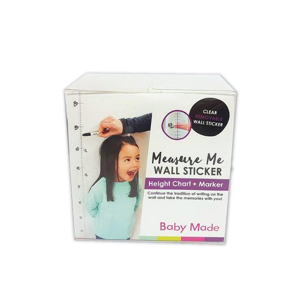Measure Me Height Chart 2m Clear Wall Sticker & Marker