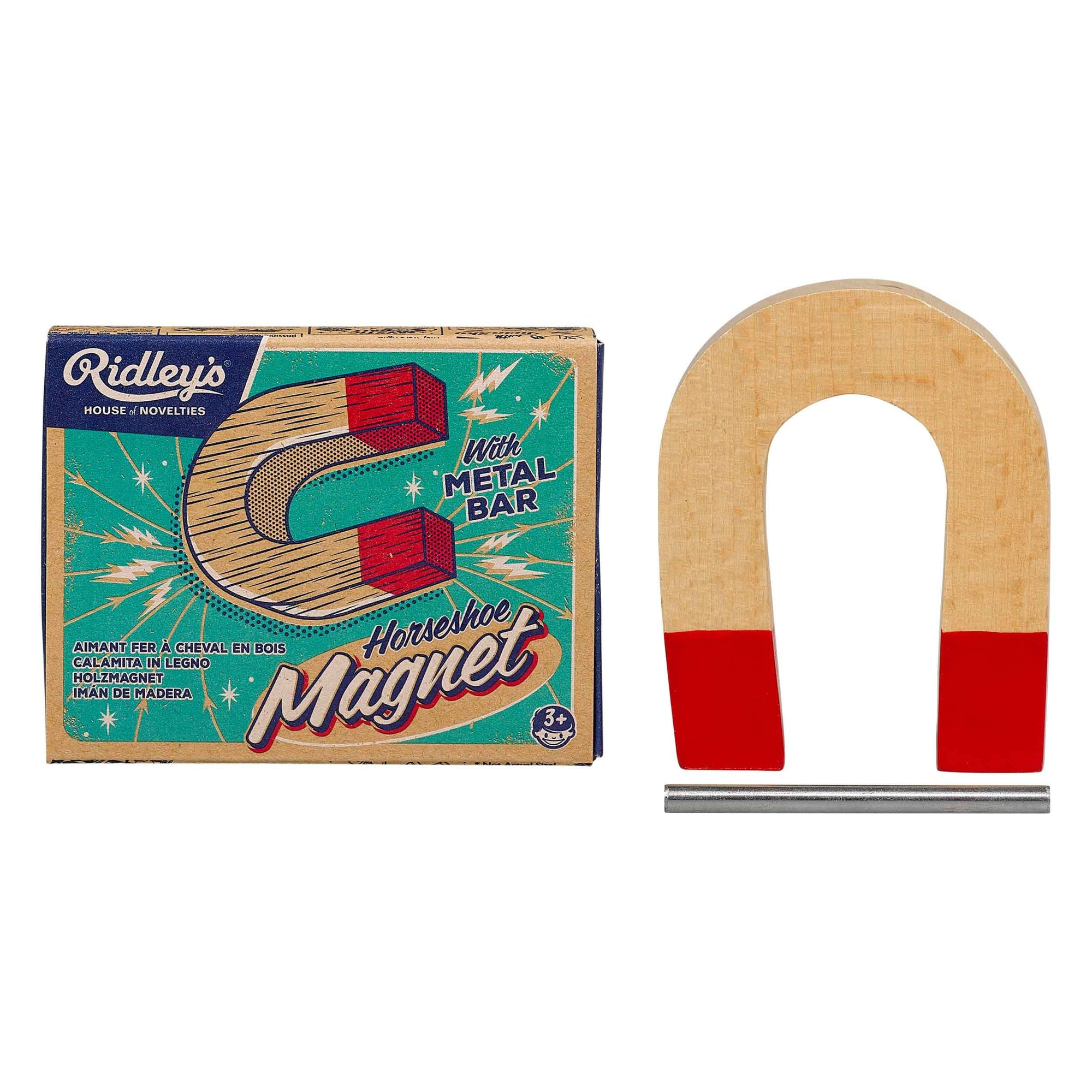 Ridley's Wooden Horseshoe Magnet