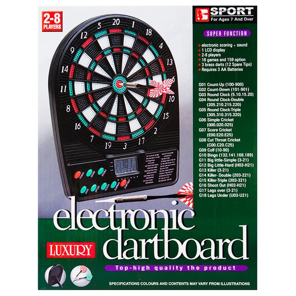 Electronic Dartboard 18 Games Battery Operated Portable Darts