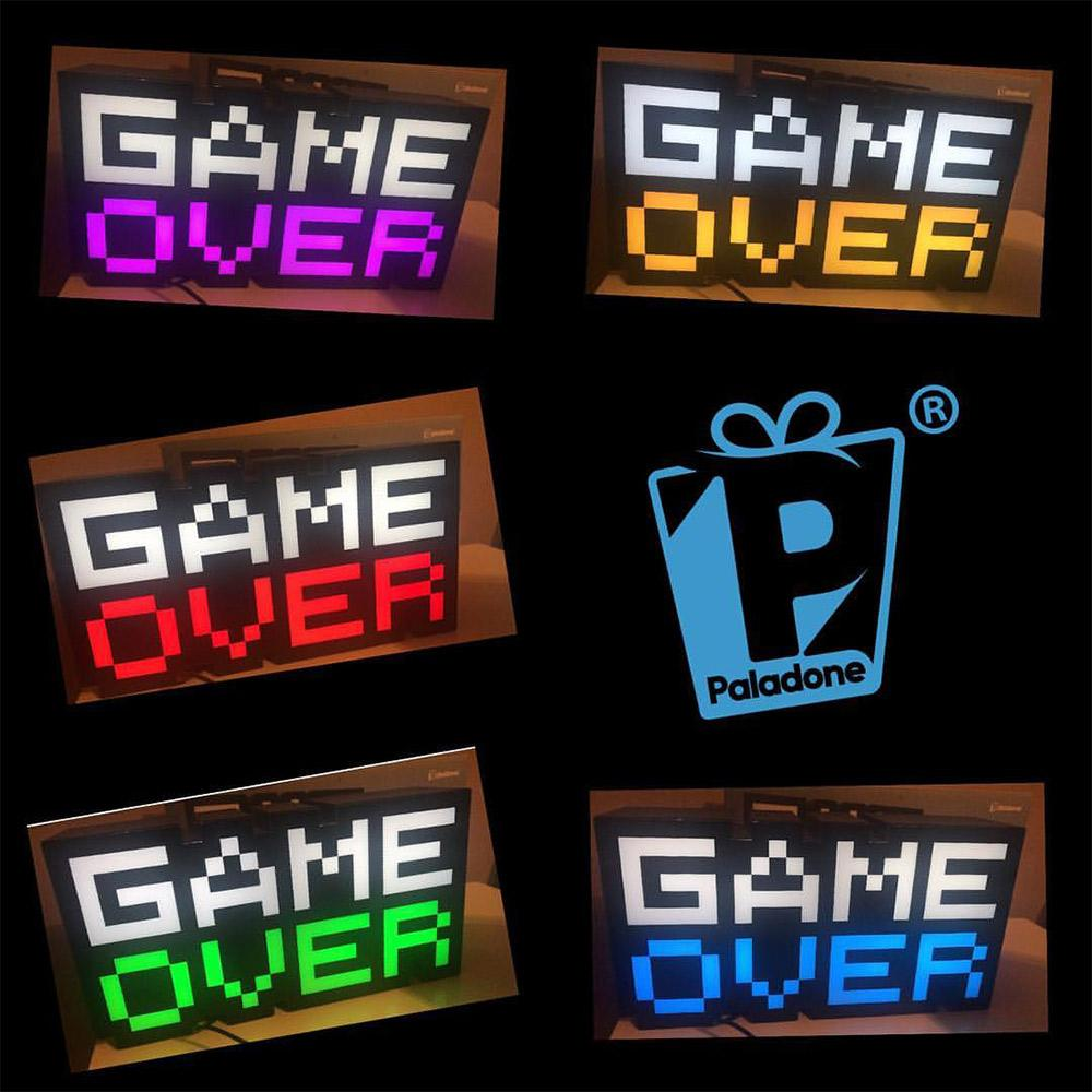 8-Bit Game Over Sound Reactive Light - - Paladone - Yellow Octopus