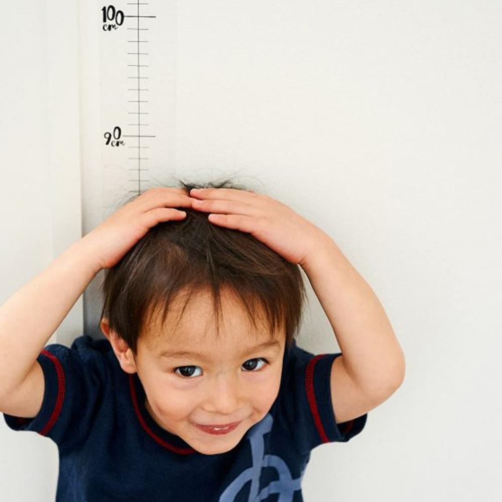 Measure Me Height Chart 2m Clear Wall Sticker & Marker - - Babymade - Yellow Octopus