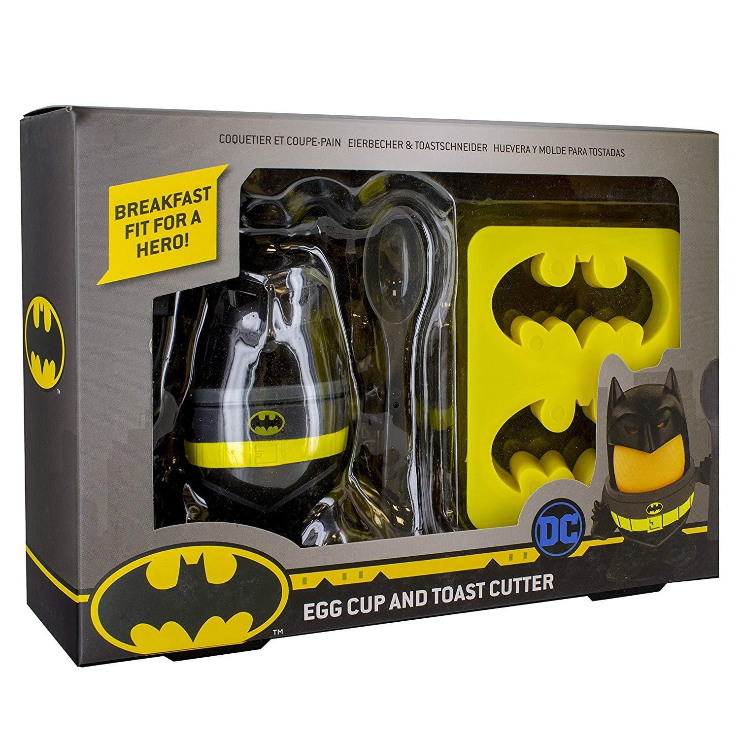 Batman Kids Egg Cup & Toast Cutter Set - - DC Comics - Yellow Octopus