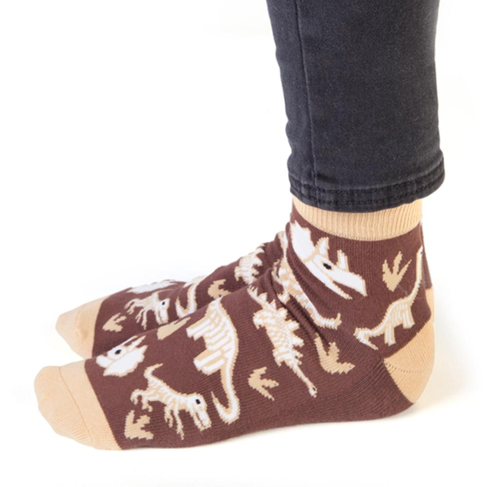 Bone Tired Dinosaur Print Socks