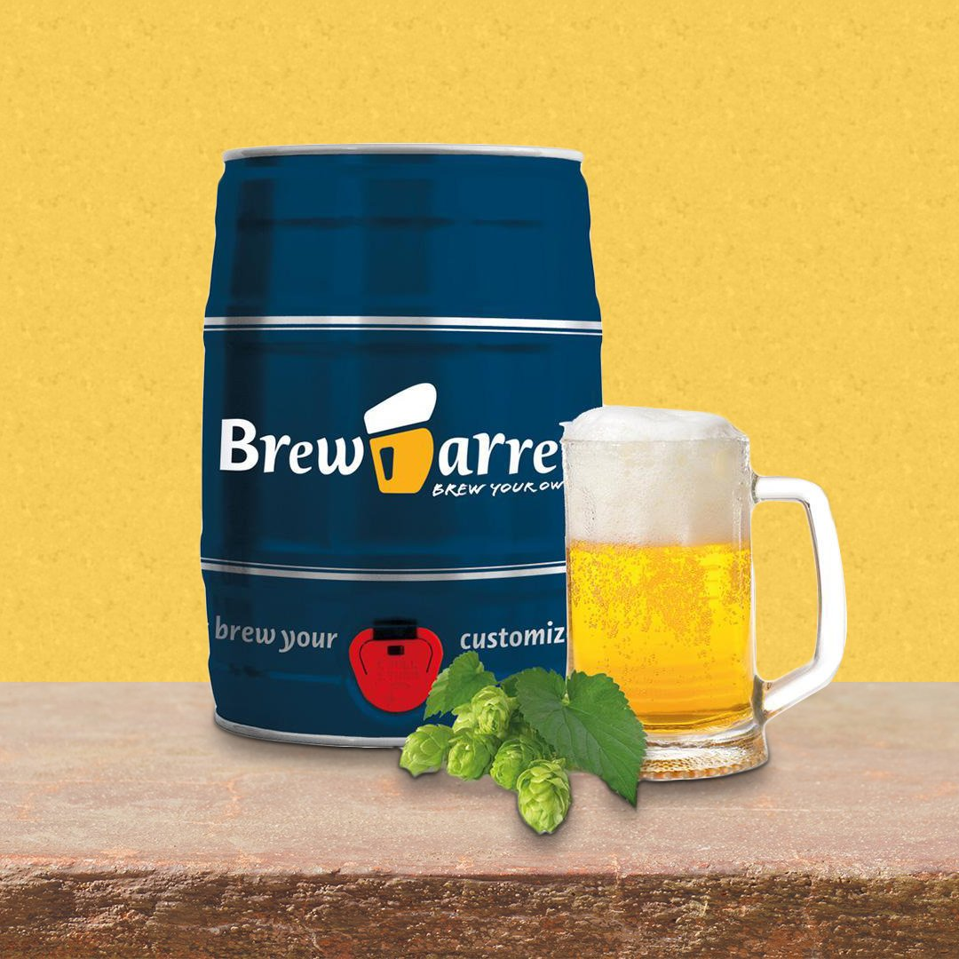 Brewbarrel Brew Your Own Lager Beer In A Keg Kit - - Brew Barrel - Yellow Octopus