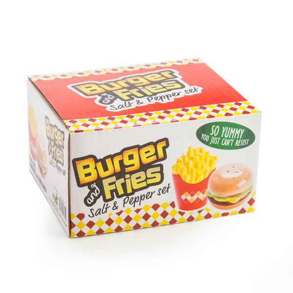 Burger & Fries Salt & Pepper Shakers