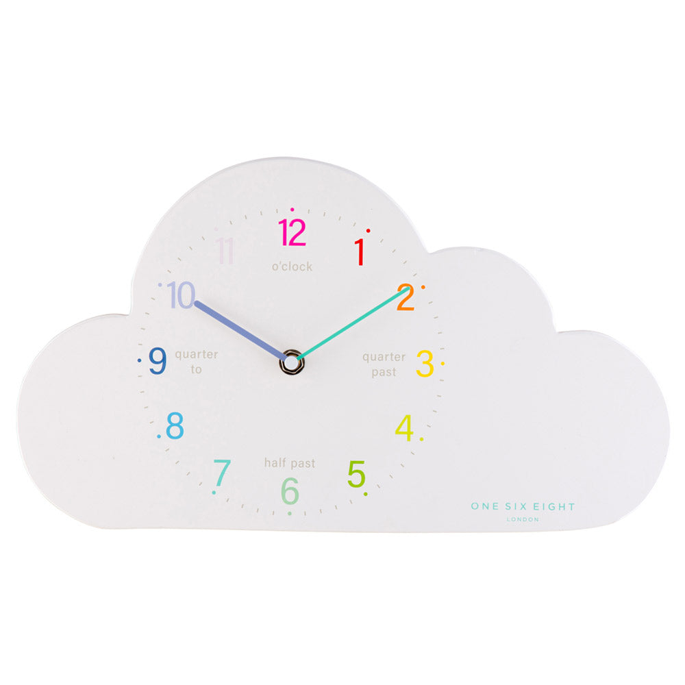 Happy Cloud Tell The Time Silent Sweep Wall Clock