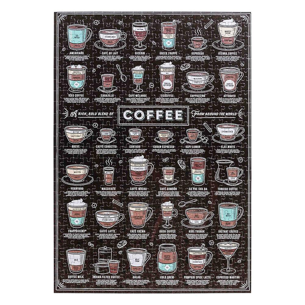 Coffee Lover's 500pc Jigsaw Puzzle 35x50cm