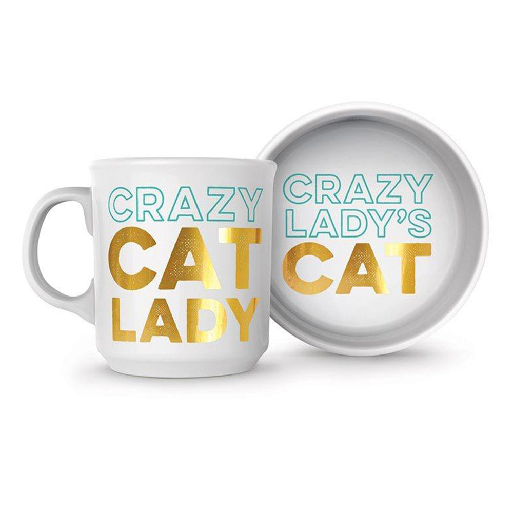 Crazy Cat Lady Mug & Cat Bowl Set