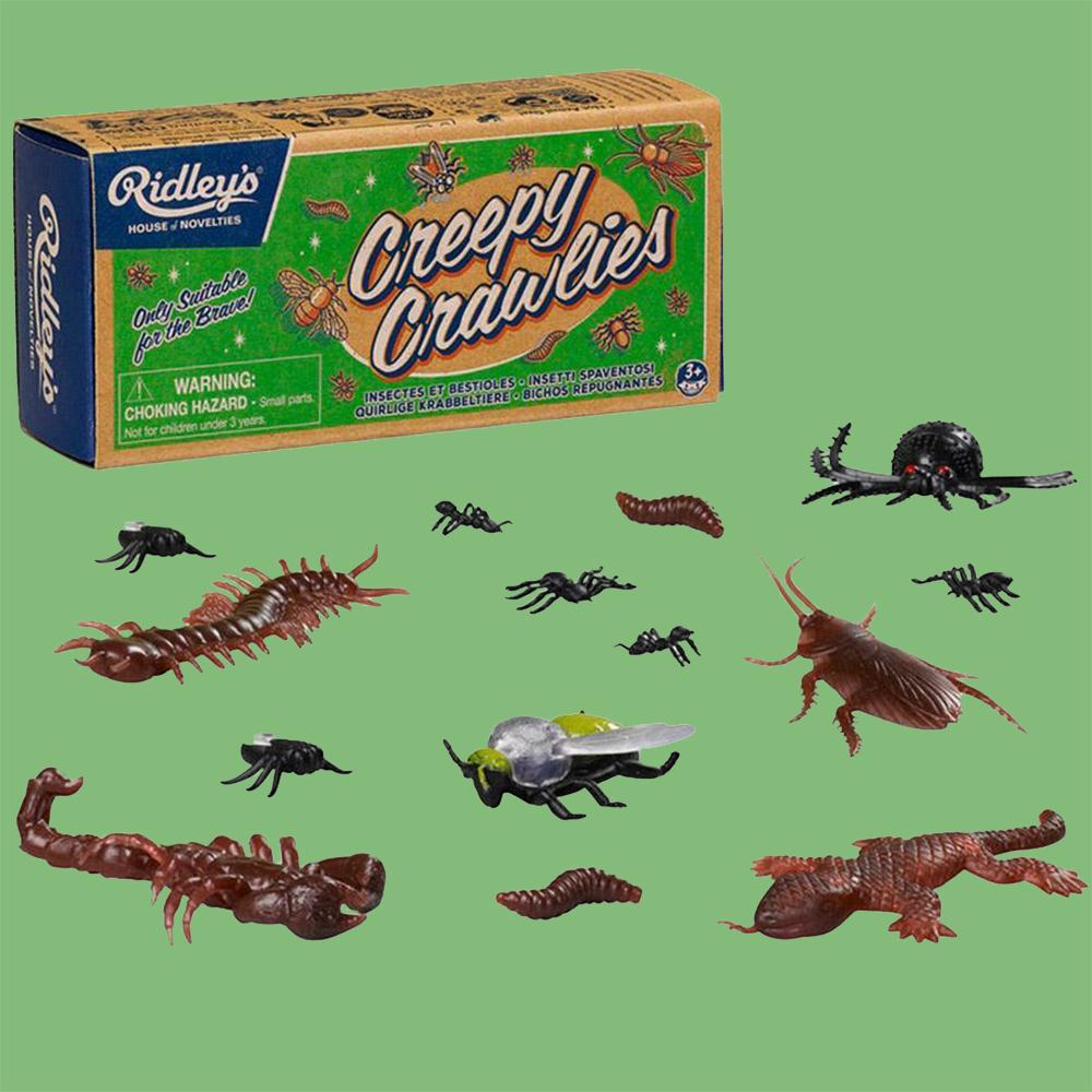 A Box of Gross Creepy Crawly Bugs - - Ridley's - Yellow Octopus