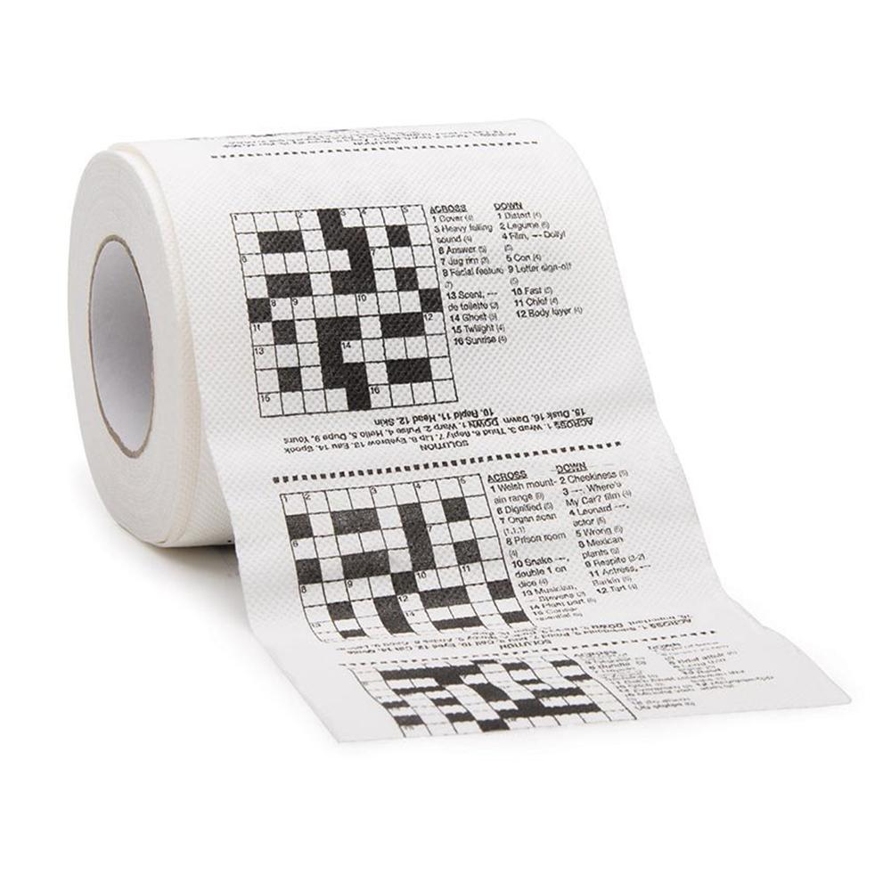 Jokes & Puzzles Novelty Toilet Paper - Crosswords For The Can - Lagoon - Yellow Octopus