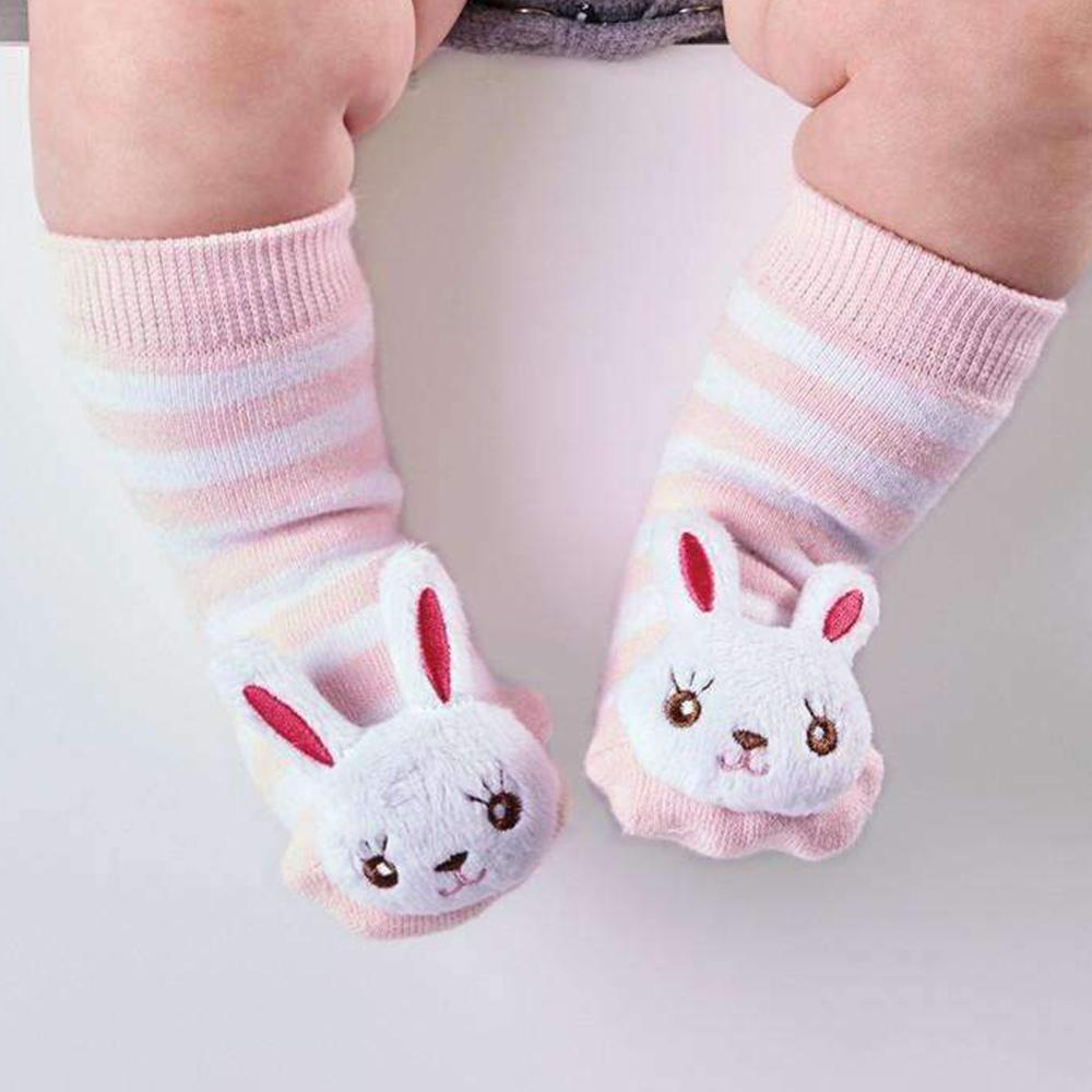 Baby Animal Rattle Socks: They Really Rattle! - Bunny - Cupcakes & Cartwheels - Yellow Octopus