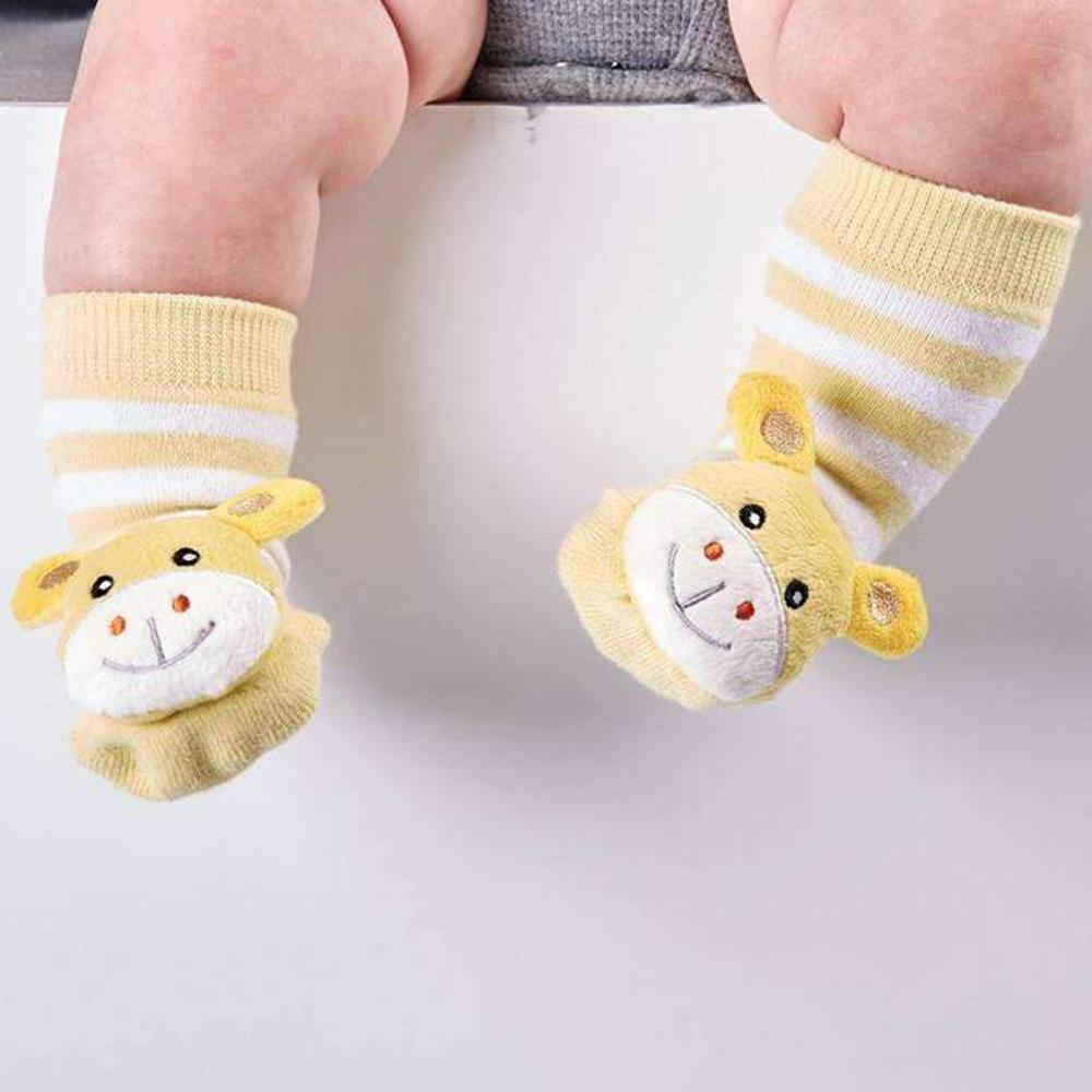 Baby Animal Rattle Socks: They Really Rattle! - Giraffe - Cupcakes & Cartwheels - Yellow Octopus