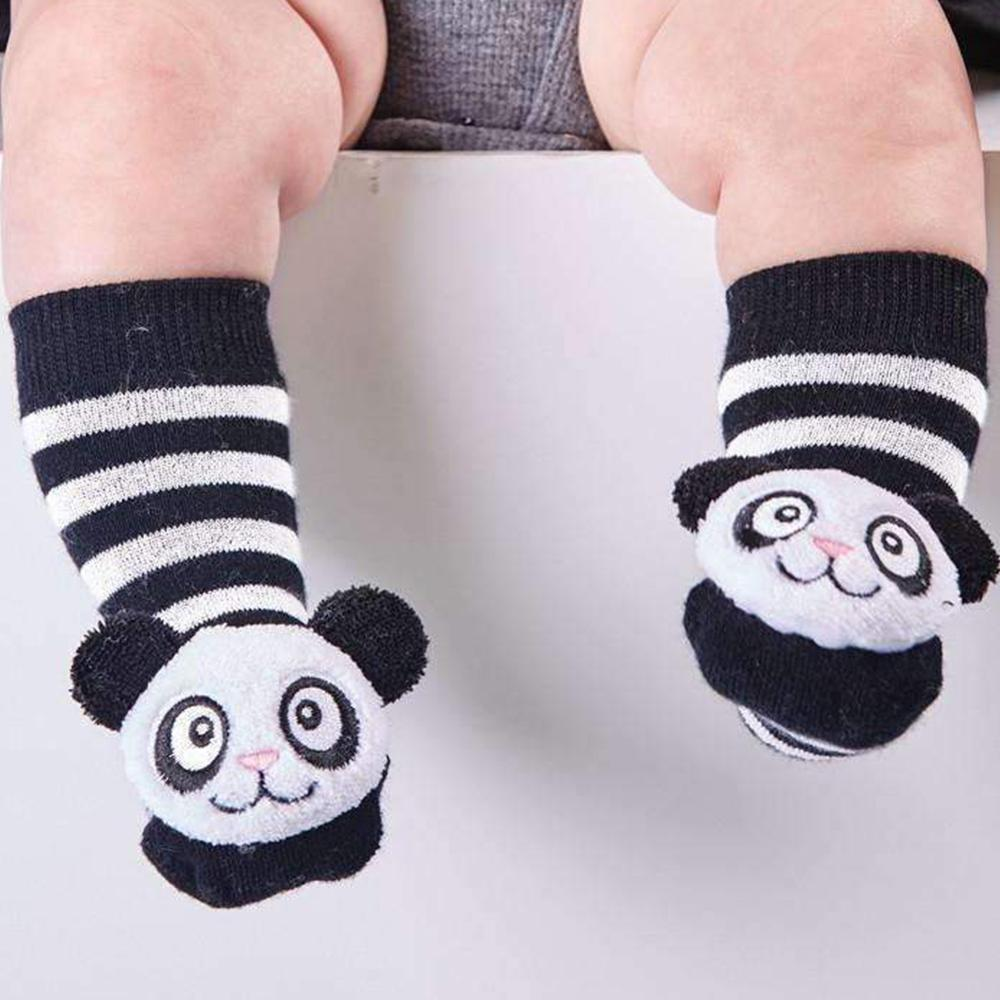Baby Animal Rattle Socks: They Really Rattle! - Panda - Cupcakes & Cartwheels - Yellow Octopus