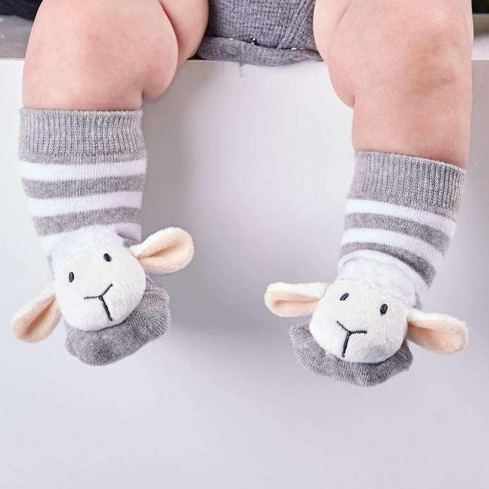 Baby Animal Rattle Socks: They Really Rattle! - Sheep - Cupcakes & Cartwheels - Yellow Octopus