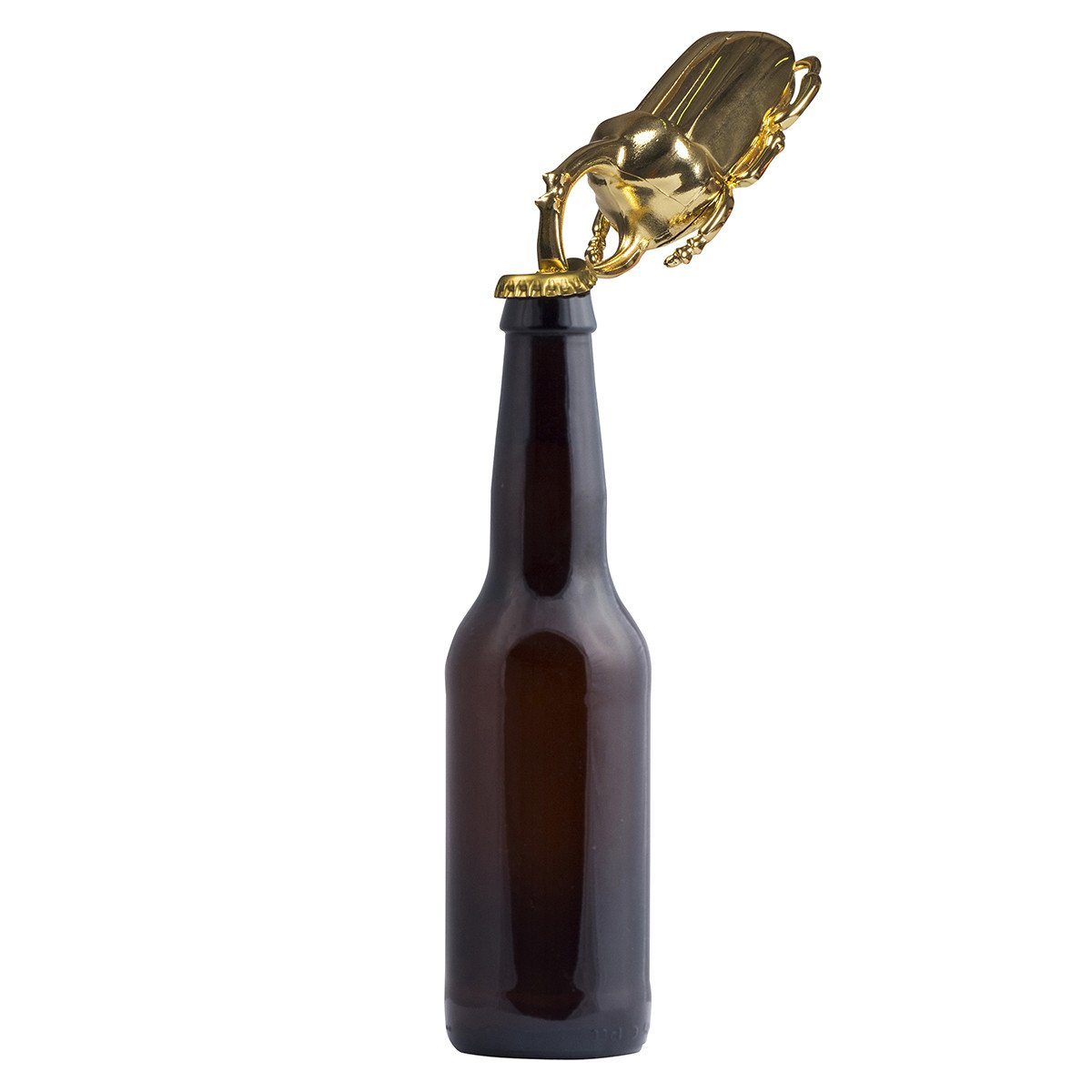 Gold Rhinoceros Beetle Solid Metal Bottle Opener | DOIY