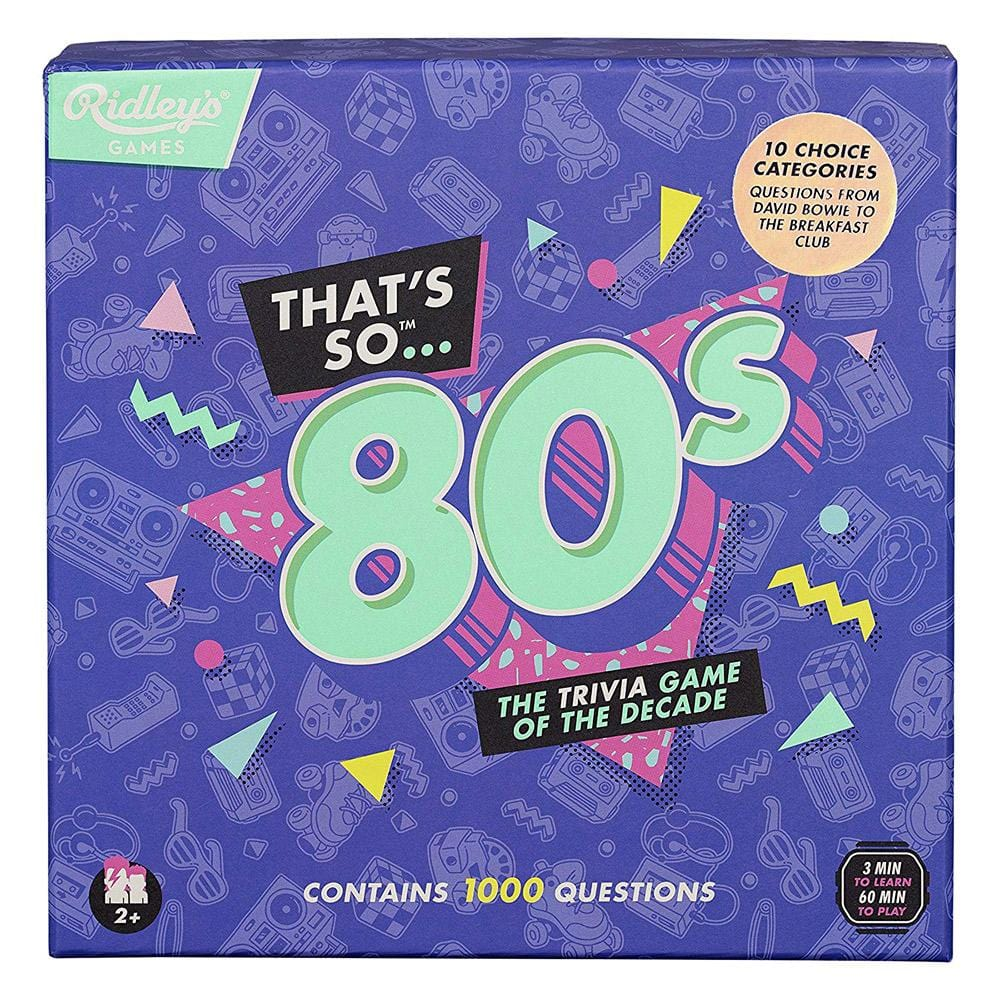 The Trivia Game of the Decade - Choose 80s or 90s - That's so 80s - - Yellow Octopus