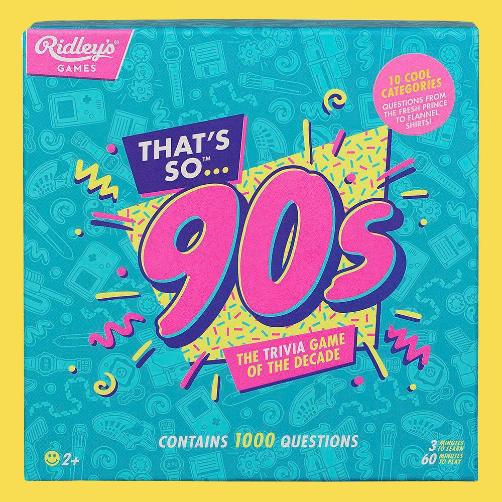 The Trivia Game of the Decade - Choose 80s or 90s - - Ridley's - Yellow Octopus
