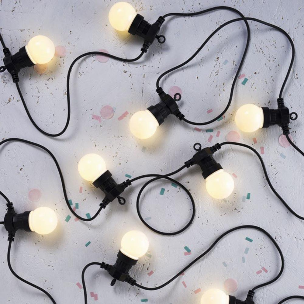Frosted Festoon Party Lights - - Delight Decor - Yellow Octopus