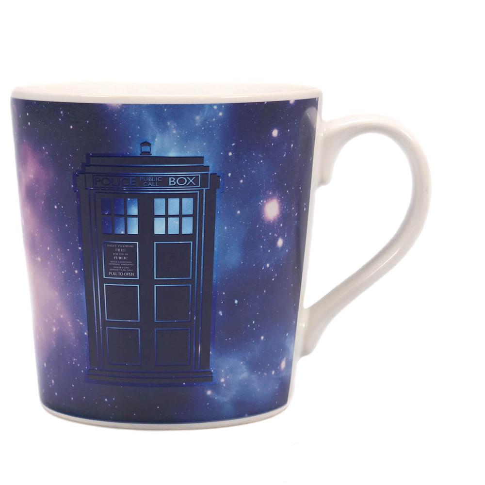 Doctor Who Galaxy Print Heat Change Mug - - Doctor Who - Yellow Octopus