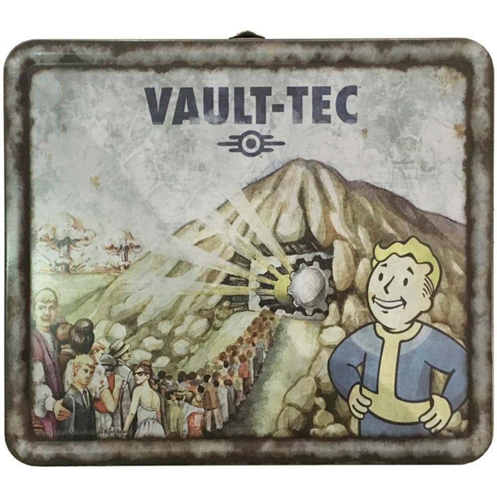 Fallout 4 Vault-Tec Weathered Tin Tote Lunch Box