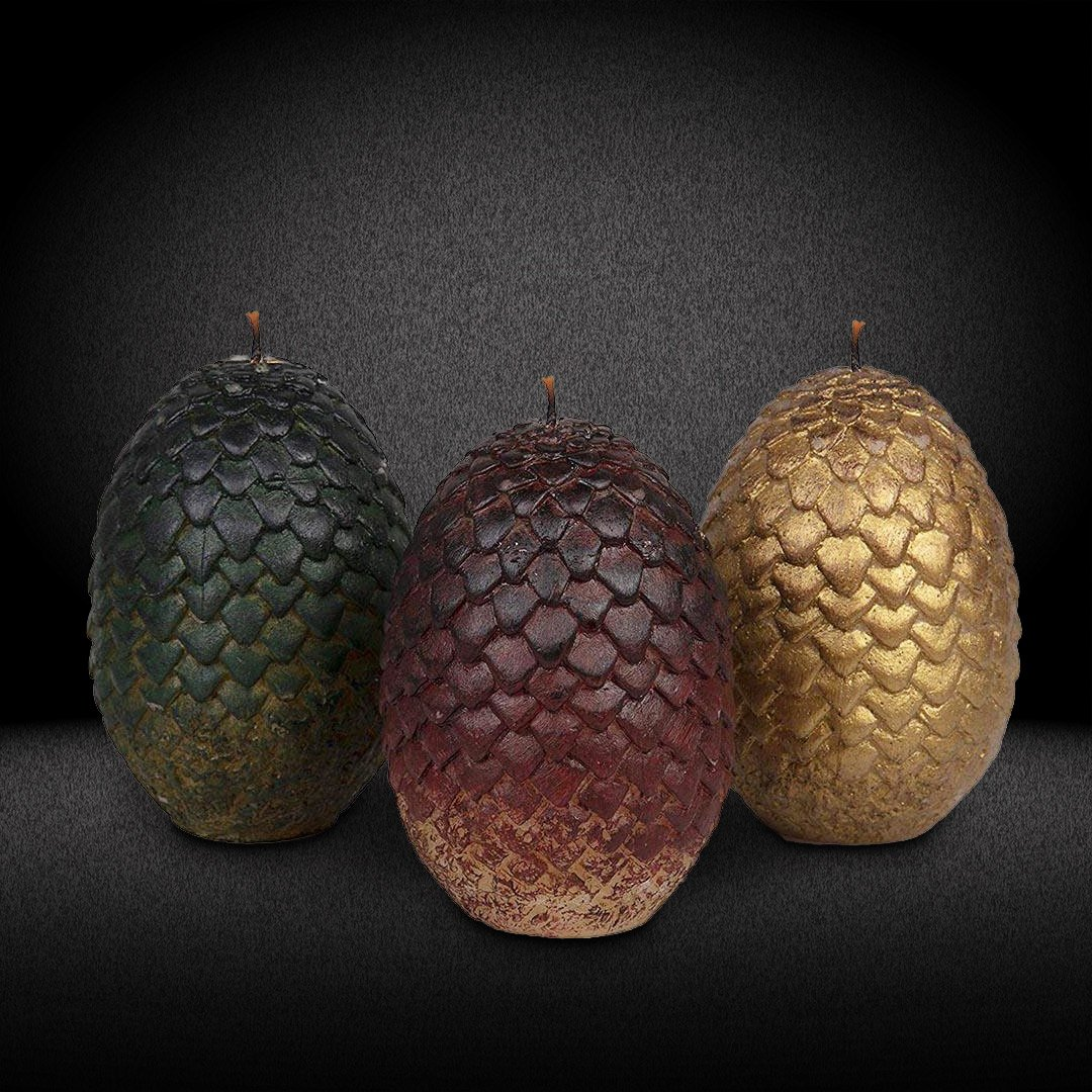 Official Game Of Thrones Daenerys Dragon Eggs Candles Set Of 3