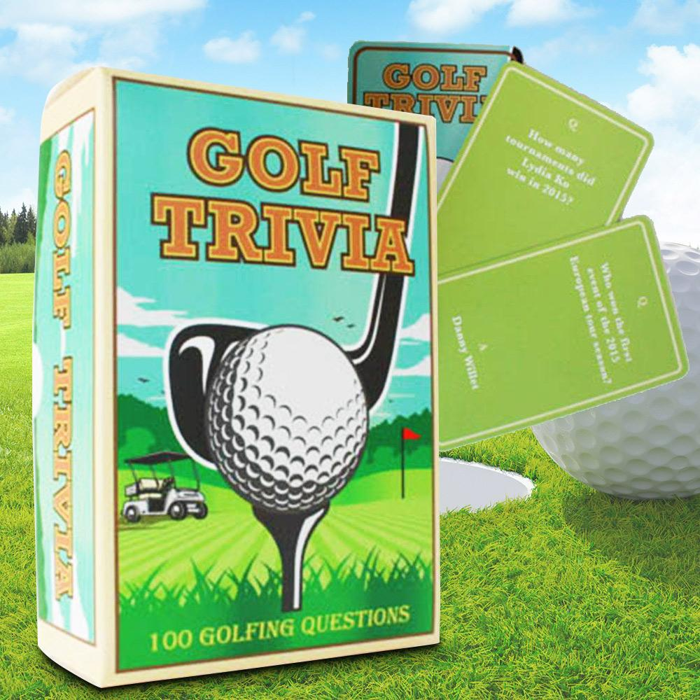 100 Golfing Trivia Questions - - Gift Republic - Yellow Octopus