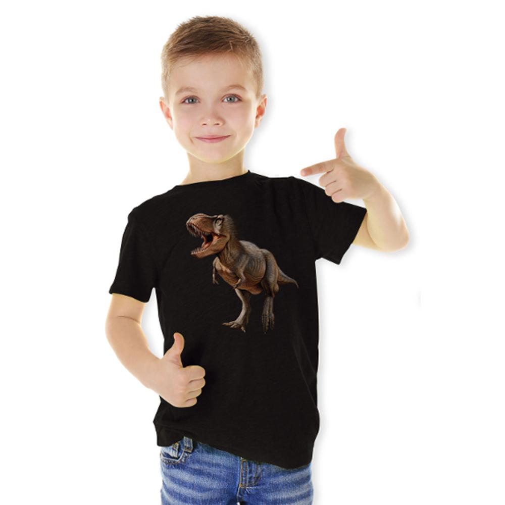 Kids T-Rex Dinosaur Unisex Cotton T-Shirt