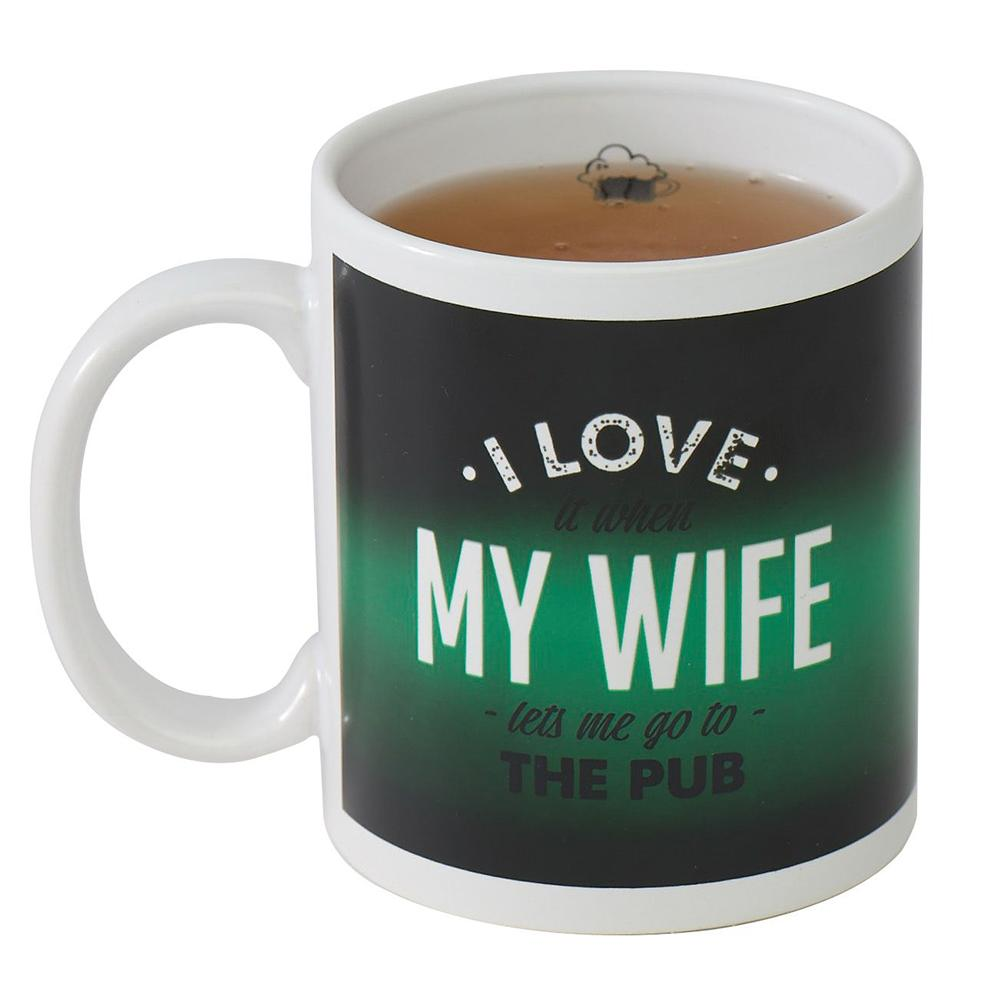 I Love My Wife Cheeky Surprise Heat Change Mug