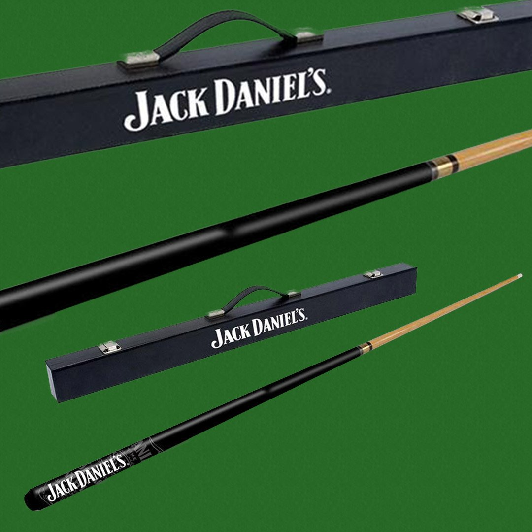 Jack Daniel's Straight Logo Pool Cue in Carry Case - - Jack Daniels - Yellow Octopus
