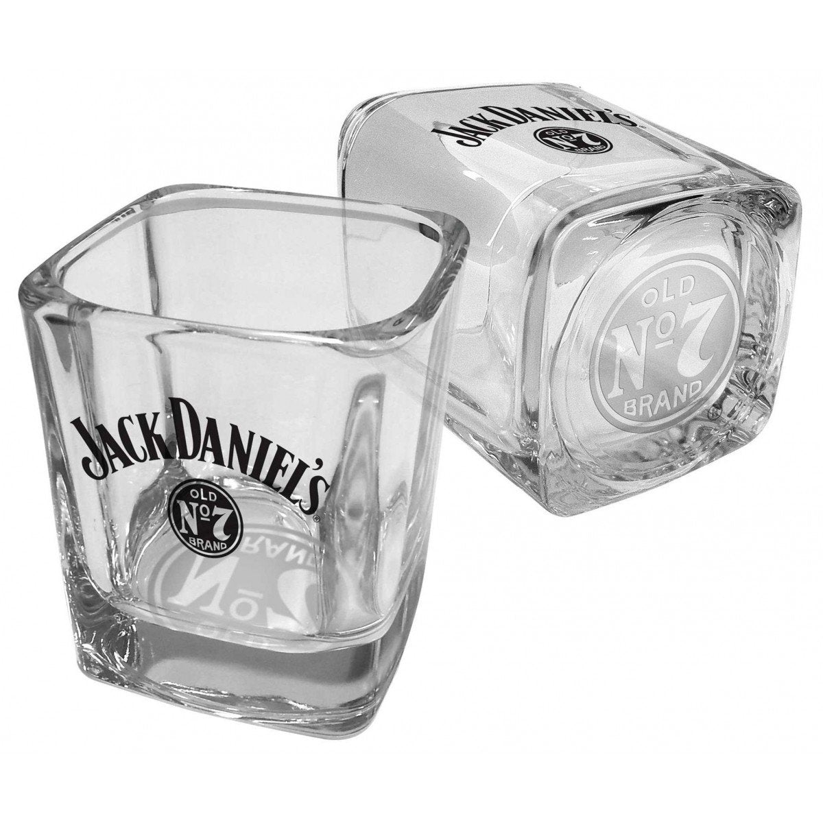Jack Daniels - Set of 2 Square Spirit Glasses