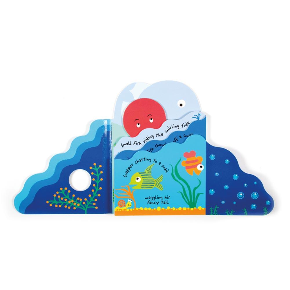 Jellycat Under The Sea Kids Fold Out Board Book - - JellyCat - Yellow Octopus