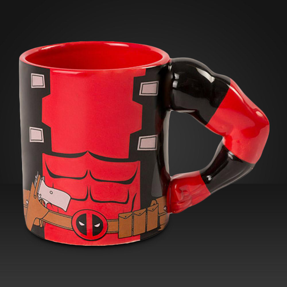 Deadpool Mug With Moulded Arm Handle