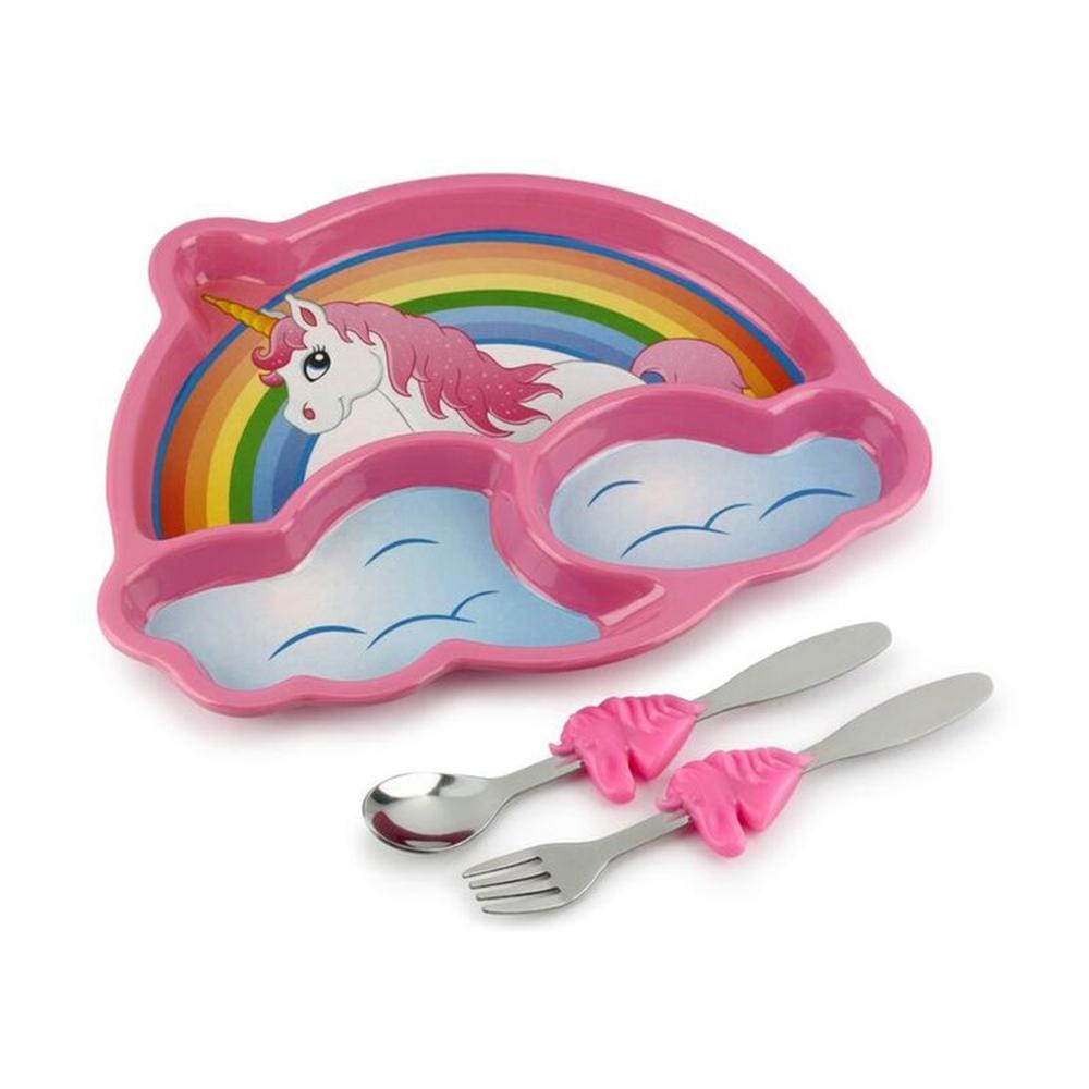 Unicorn Dinner Plate Meal Set - - KidsFunwares - Yellow Octopus