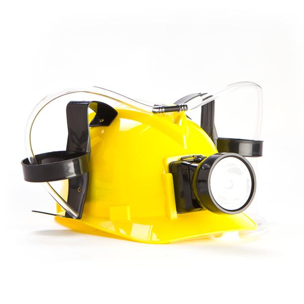 Miner's Drinking Beer Hat With LED Light - - mdi - Yellow Octopus