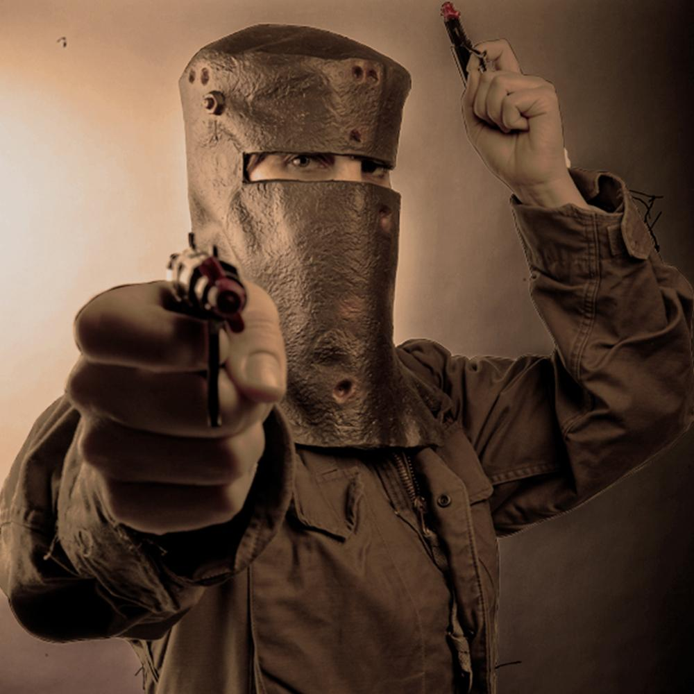 Ned Kelly's Helmet Party Mask - - Madheadz - Yellow Octopus
