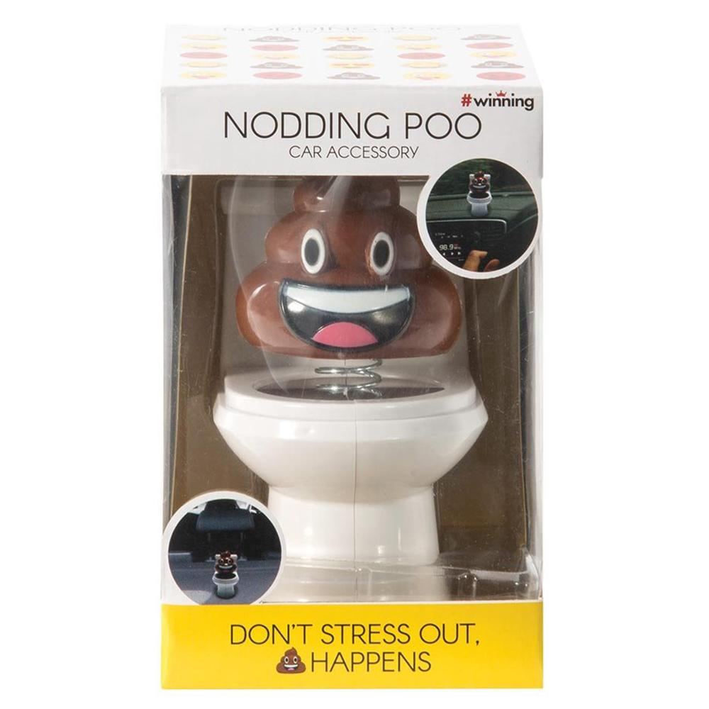 Nodding Dashboard Poo On The Loo Poo Emoji