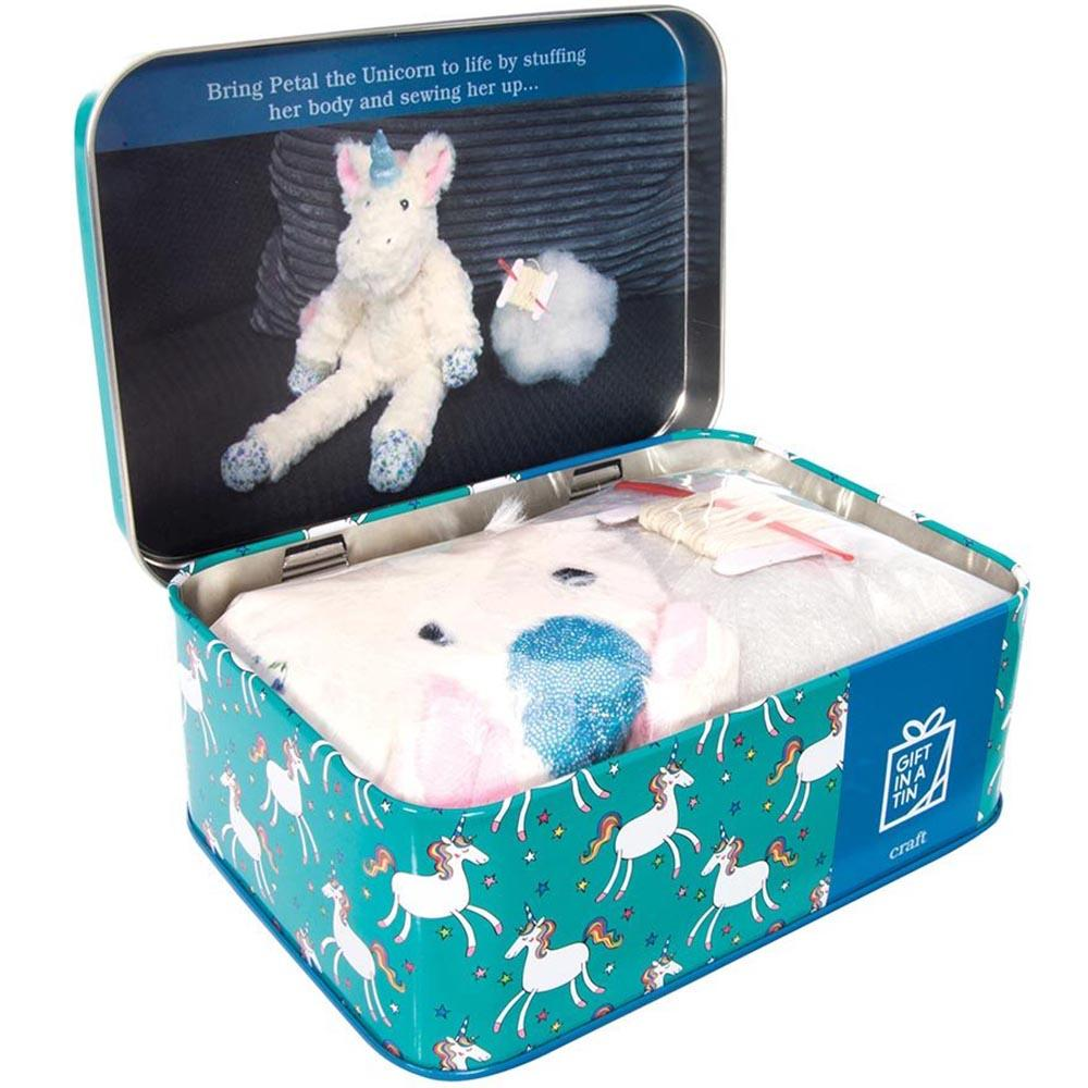 Petal The Unicorn Sewing Kit In A Tin - - Apples to Pears - Yellow Octopus