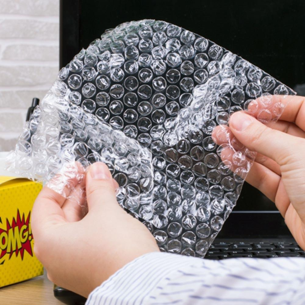 Poppit Sheets Novelty Bubble Wrap Dispenser - - ThumbsUp! - Yellow Octopus