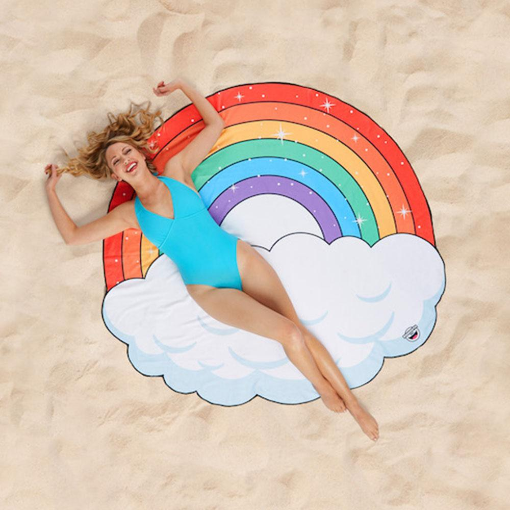 Rainbow Cloud Beach Blanket 152cm - - Big Mouth Inc - Yellow Octopus