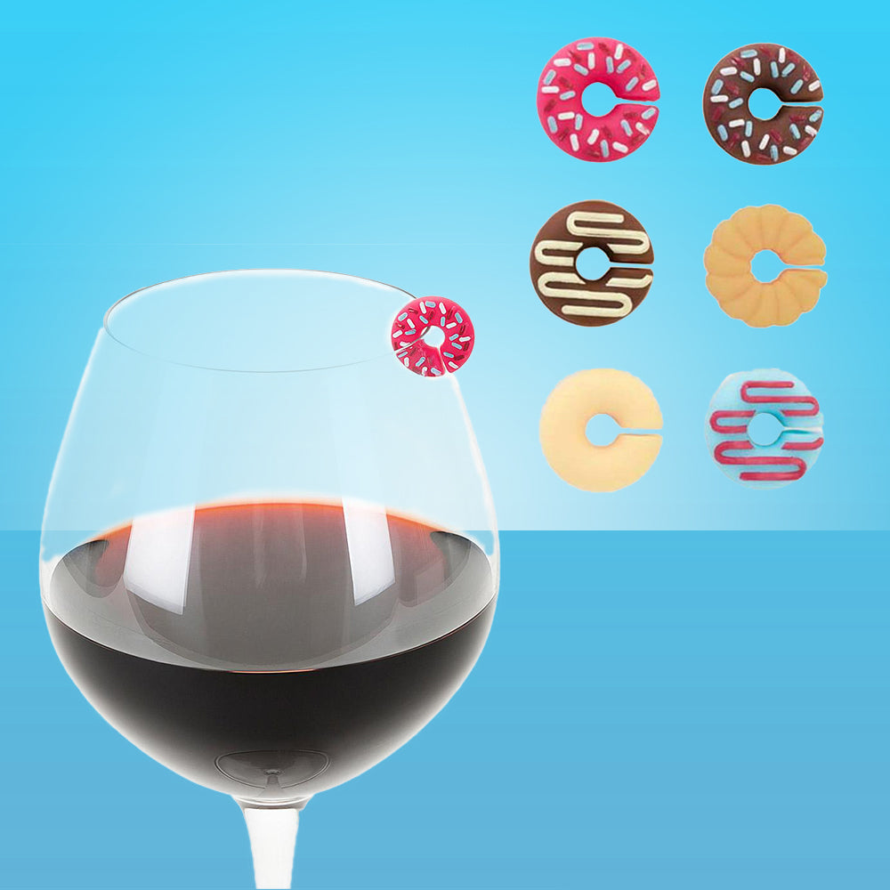 Delicious Donut Wine Markers