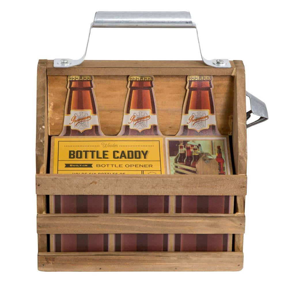 Timber Beer Caddy | Dad present | Beanstalk Single Mums