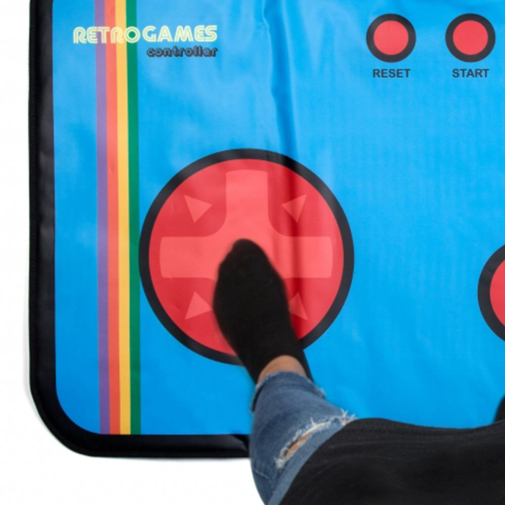 Retro 80s 8-Bit Gaming Floor Mat: 200 Built-in Games! - - ThumbsUp! - Yellow Octopus