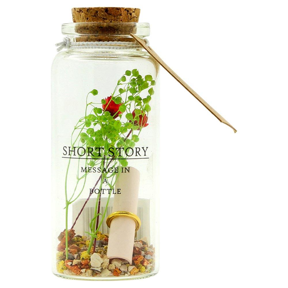 Rose Garden Write & Gift Message In A Bottle - - Short Story - Yellow Octopus