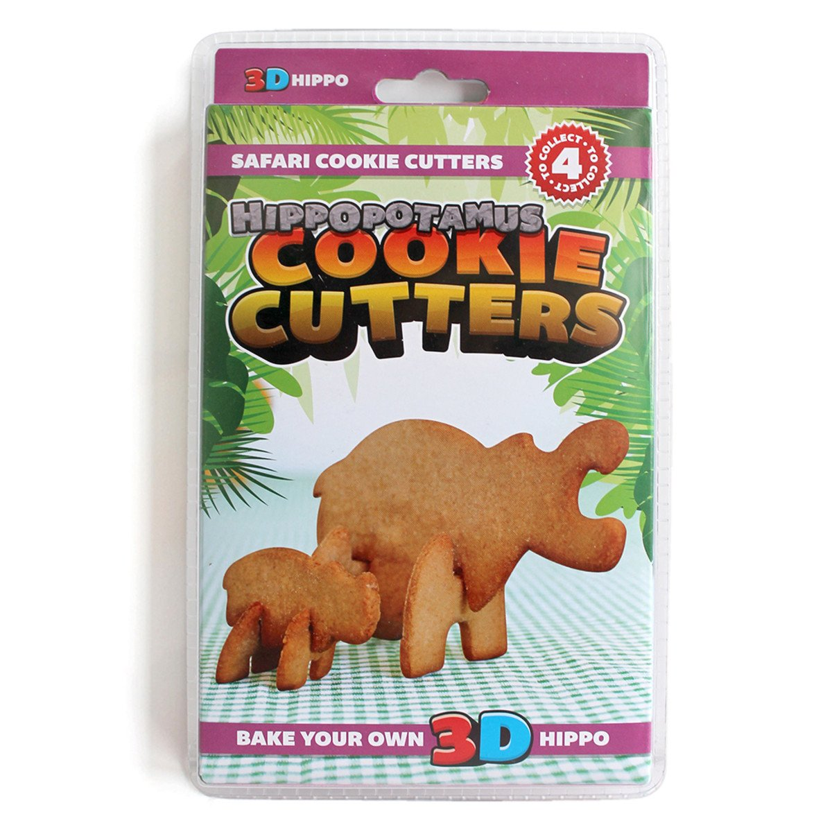 Hippo 3D Cookie Cutters - - SUCK UK - Yellow Octopus