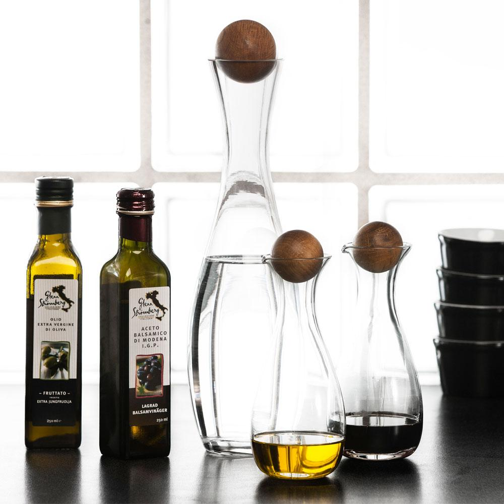 Sagaform Oil & Vinegar Bottles with Oak Cork