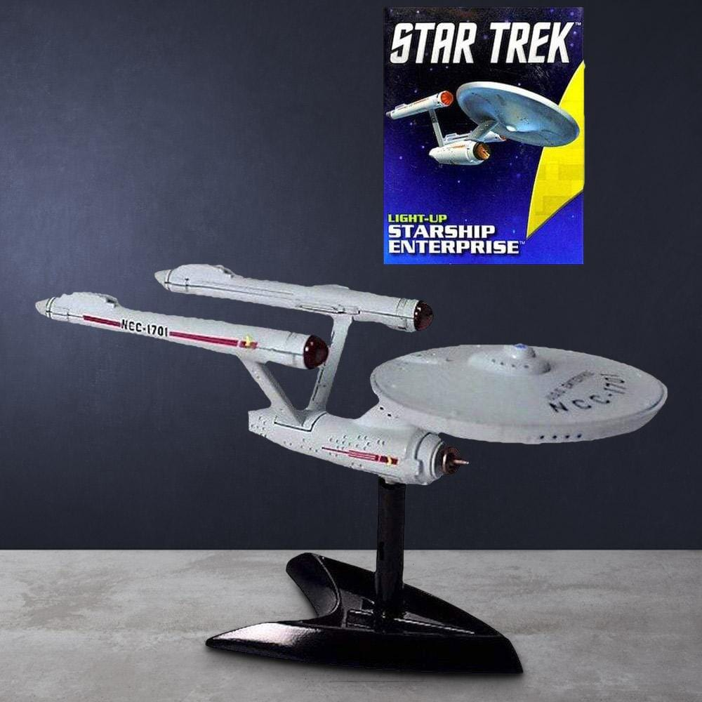 Star Trek Light-Up Enterprise Replica & Pocket Book - - Star Trek - Yellow Octopus